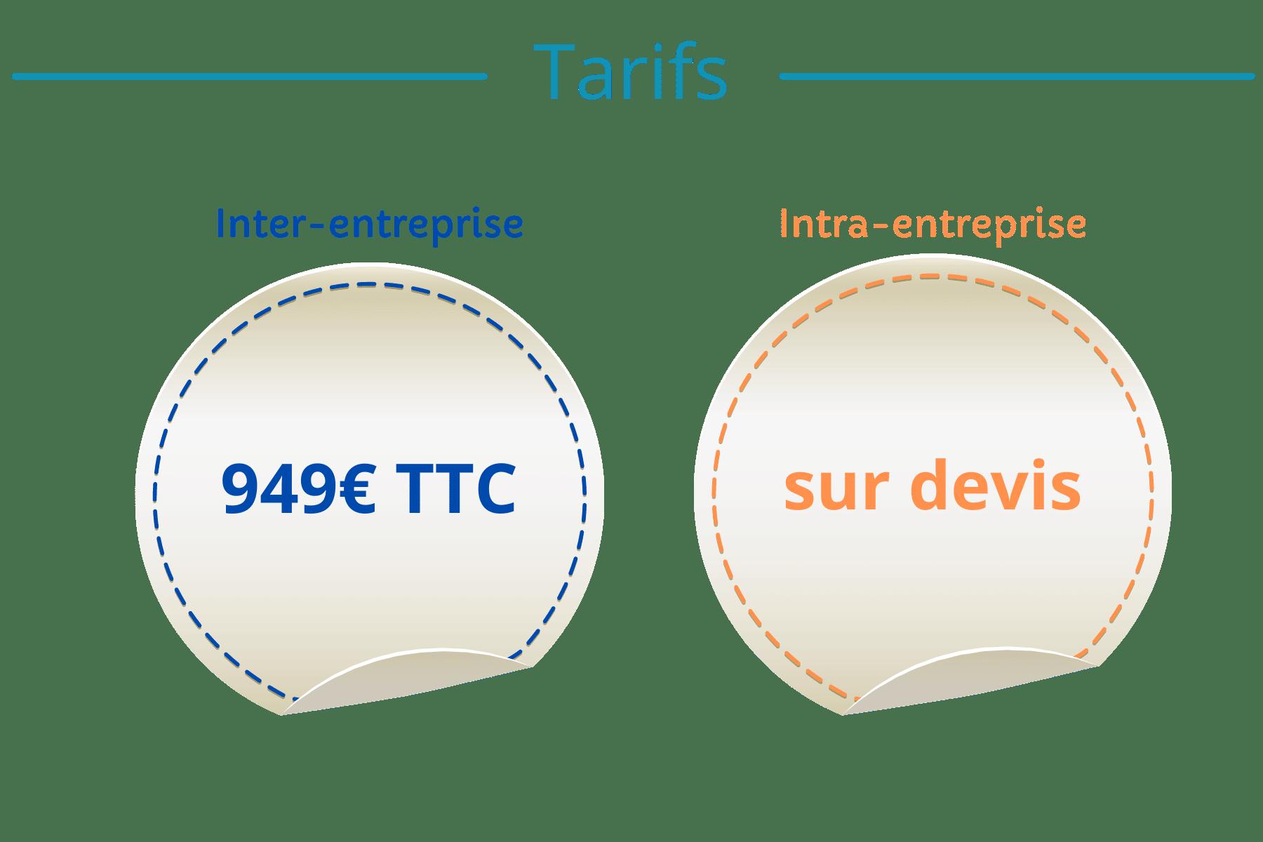tarifs formations Gestion Finance