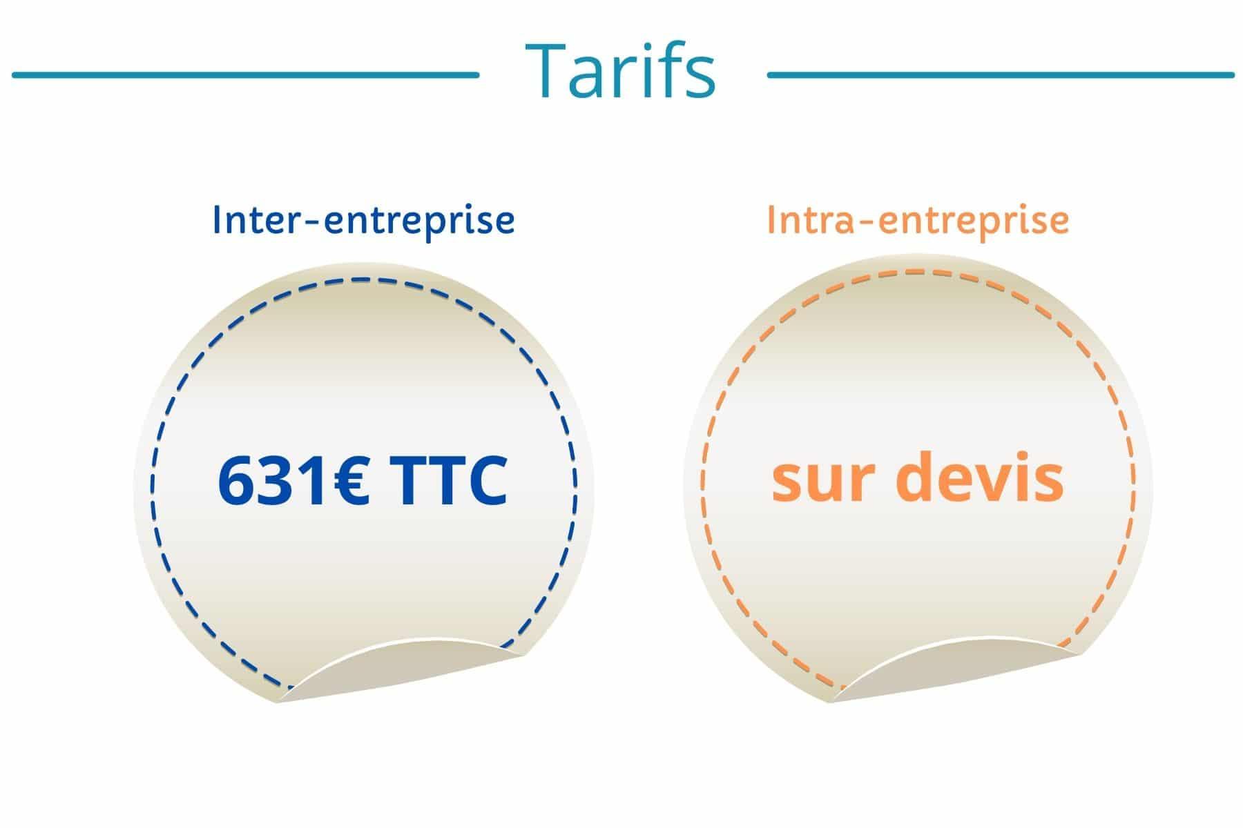 tarifs formations logistique